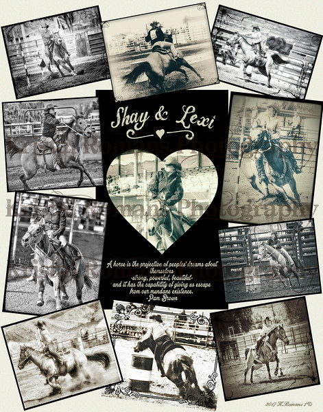 Shay Heckethorn & Her Horse Lexi Collage 2017