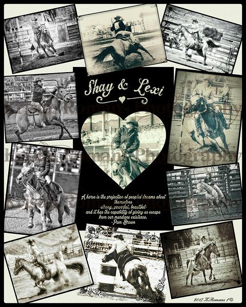 Shay Heckethorn & Horse Lexi Collage