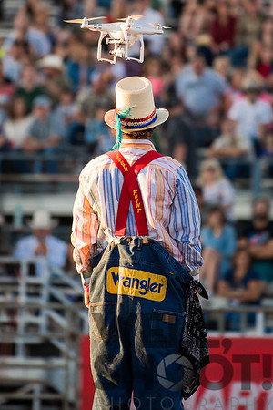 Wofly vs Drone -27th Annual PRCA Eugene Pro Rodeo July 07, 2018 Eugene, OR.