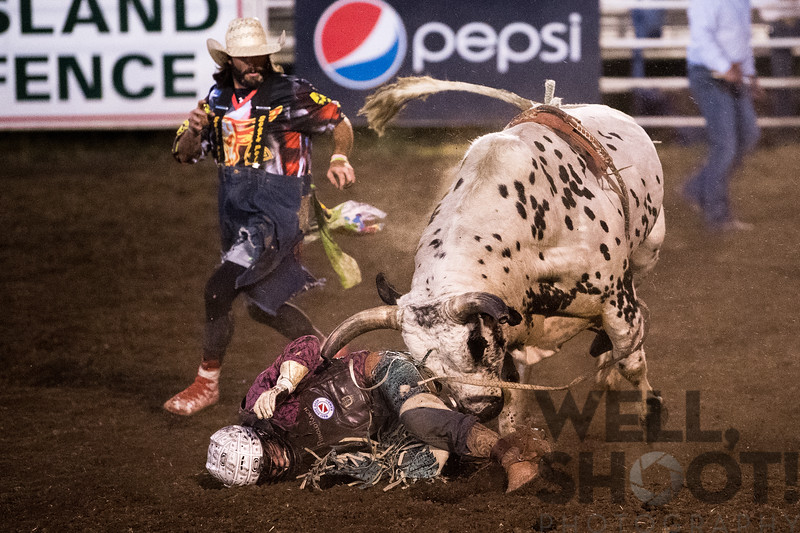 Dawson Branton, Jefferson, OR. 27th Annual PRCA Eugene Pro Rodeo July 07, 2018 Eugene, OR.