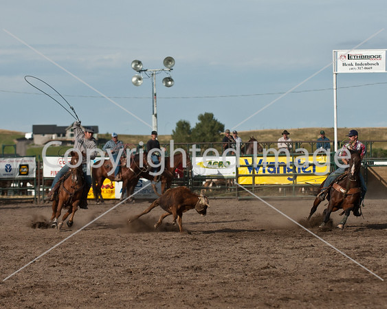 2011 Aug Pincher Creek Team Roping