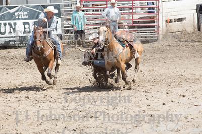 2014 Dayton Rodeo Steer Wrestling - Monday
