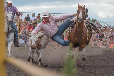 2016 rodeo saturday steer wrestling-4088