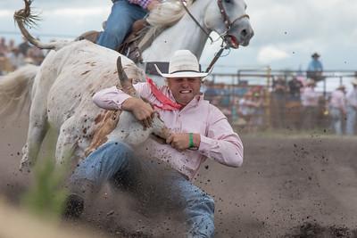 2016 rodeo saturday steer wrestling-4092