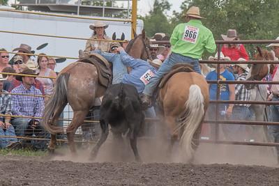 2016 rodeo saturday steer wrestling-4114