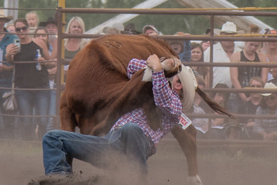 2016 rodeo saturday steer wrestling-4134