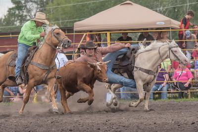 2016 rodeo saturday steer wrestling-4116