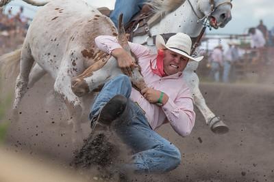 2016 rodeo saturday steer wrestling-4093