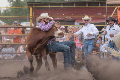 2016 rodeo saturday steer wrestling-4128