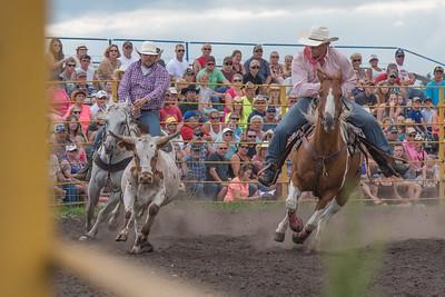 2016 rodeo saturday steer wrestling-4087