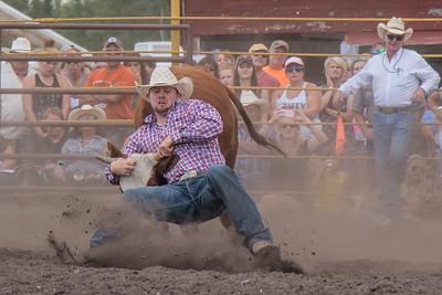 2016 rodeo saturday steer wrestling-4131