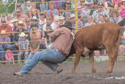 2016 rodeo saturday steer wrestling-4122