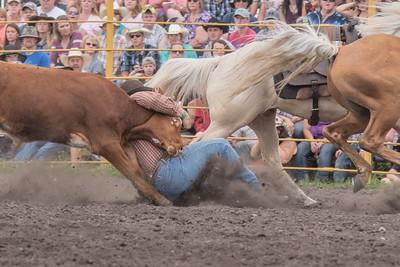 2016 rodeo saturday steer wrestling-4118