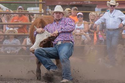 2016 rodeo saturday steer wrestling-4130