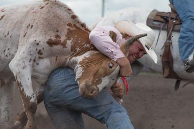 2016 rodeo saturday steer wrestling-4096