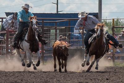 2016 rodeo sunday steer wrestling-5272