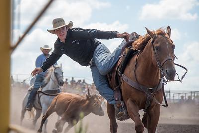 2016 rodeo sunday steer wrestling-5230