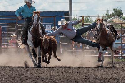 2016 rodeo sunday steer wrestling-5275