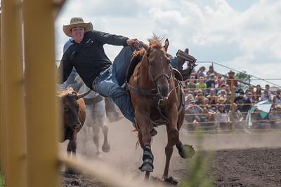 2016 rodeo sunday steer wrestling-5227