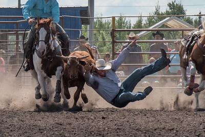 2016 rodeo sunday steer wrestling-5277