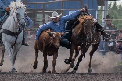 2016 rodeo sunday steer wrestling-5214