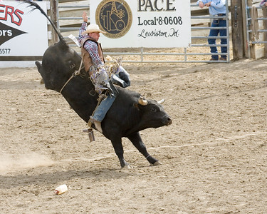 Bull has the cowboy out of position