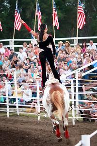 Riata Ranch Cowboy Girls - professional trick riding/roping team