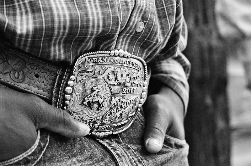 Belt Buckle Champion Bronc Riding