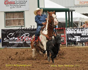 WINDY RYON  MEMORIAL ROPING-Saginaw, Texas-May 24-26, 2013