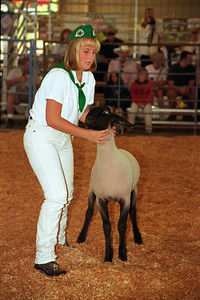 Megan at Lake County Fair 1999