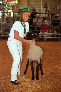 Megan at Lake County Fair 1999