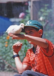 Eliot with turkey 1995