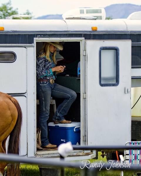 9698<br /> Modern Day Cowgirl.(Texting) Tillamook 2013