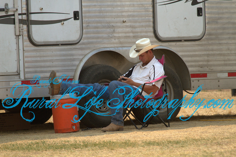 6685<br /> Scott Conboy taking a break before RBC 5 pm Performance.I bet he taught his nephew Shane Proctor how to relax a little before he gets on a Bull,its always a pleasure to to chat with Scott.