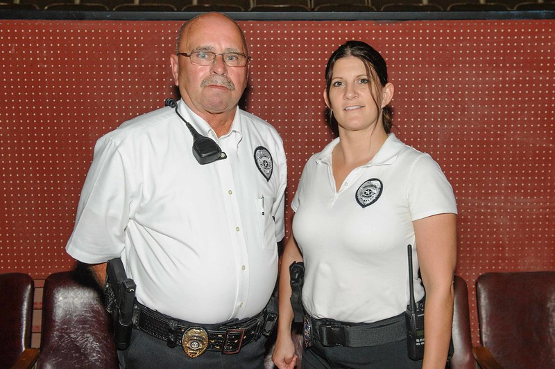 """Theater Security provided by """"Crawford Security""""  Bob Crawford & Cheryl Hicks"""