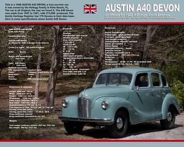 """""""THELMA"""" is a survivor car. 1948 AUSTIN A40 DEVON. She is a """"Brit"""" car."""