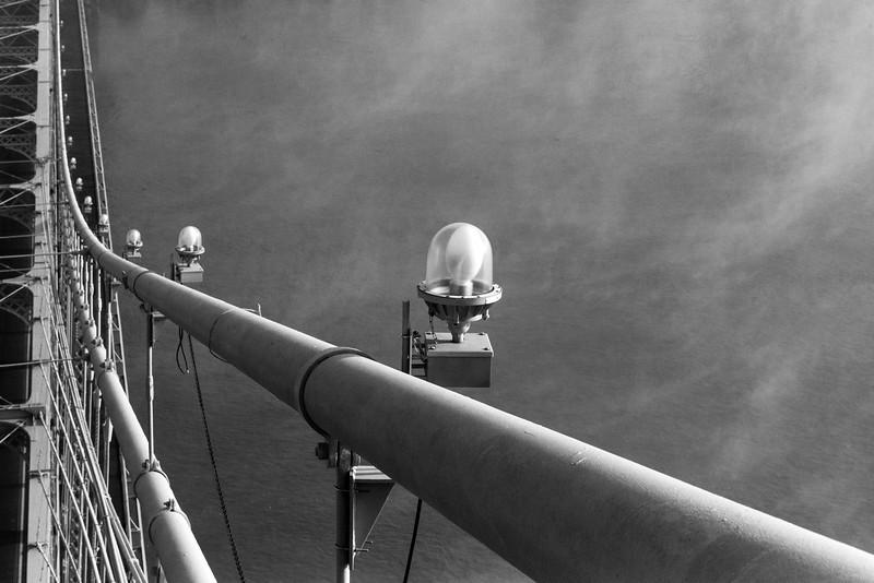 B&W Lights Roebling Suspension Bridge