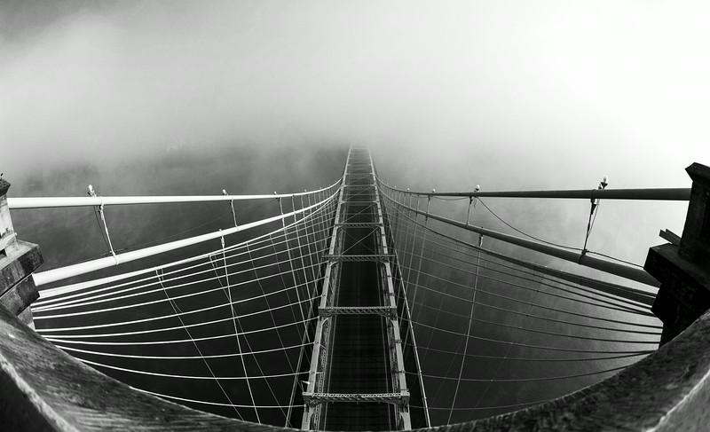 B&W Roebling Suspension Bridge