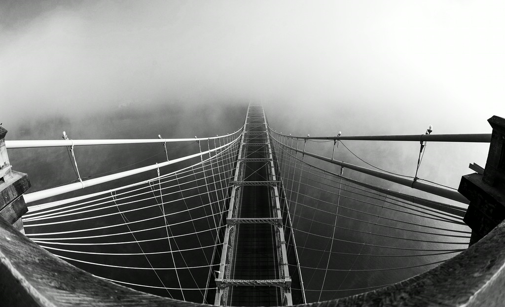 B&W Roebling Suspension Bridge