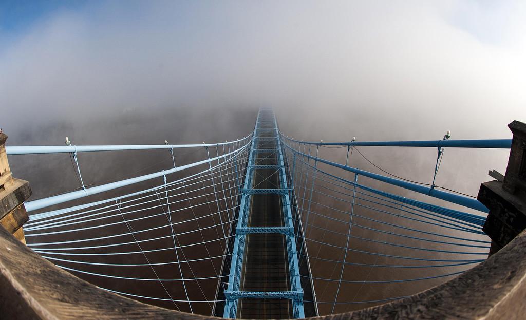Roebling Suspension Bridge Fish-Eye