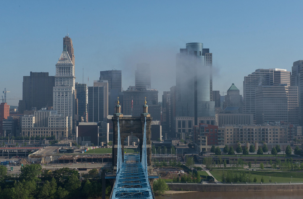 Roebling Suspension Bridge North Towers Landscape
