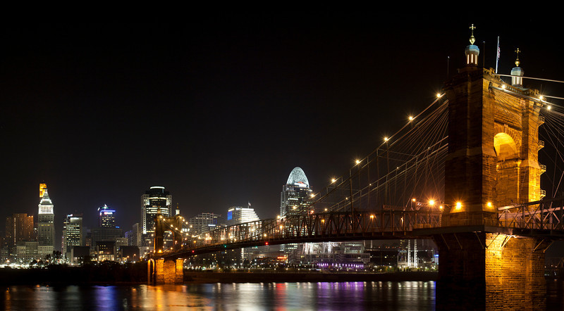 John A. Roebling Suspension Bridge 1