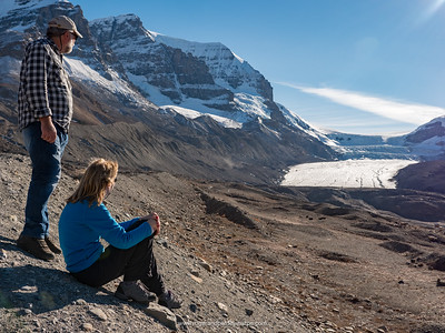 At the Athabasca Glacier. Columbia Icefields. Alberta. Canada.