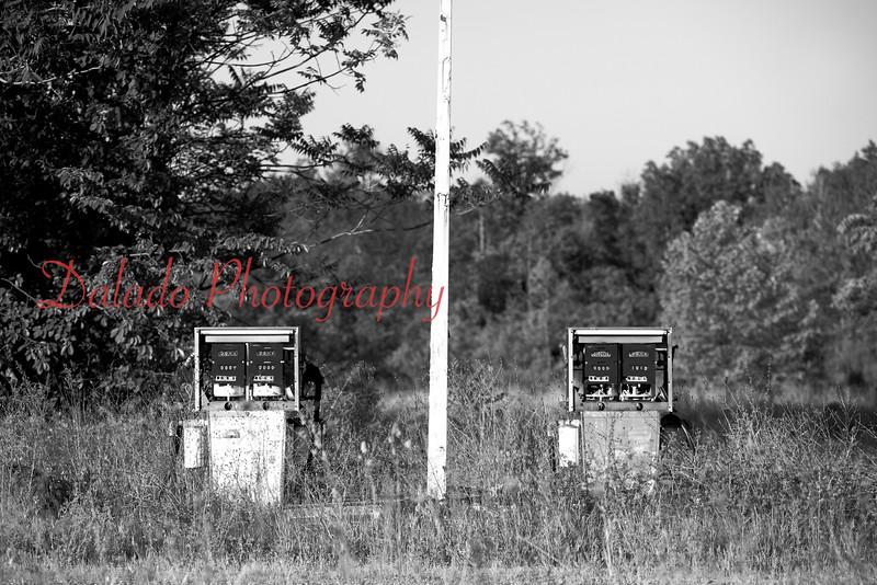Old gas pumps near Gettysburg.