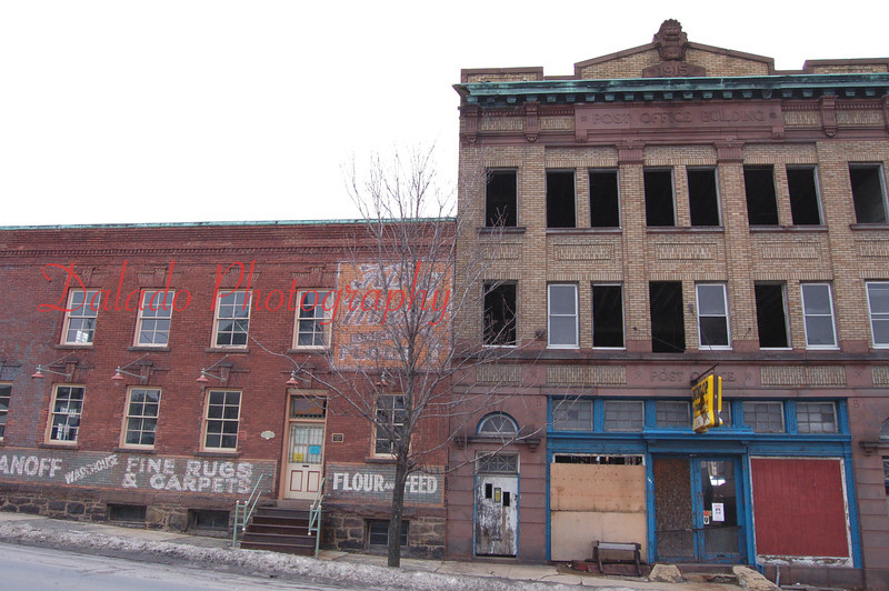 The building on the right completely burned to the ground two months after this photo was taken.