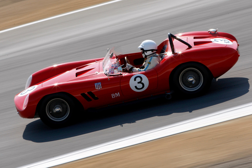 . Nick Colonna (3) in his 1958 Devin SS in the Group 3A 1955-1961 Sports Racing over 2000cc class at Mazda Raceway Laguna Seca in Monterey during the Rolex Monterey Motorsports Reunion on Friday, Aug. 18, 2017.  (Vern Fisher - Monterey Herald)