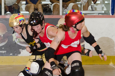 7/19/13 - Ruby Red Skates vs. Yellow Brick Road
