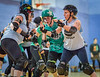 2 December 2017 at The Arc, Glasgow Caledonian University. Glasgow Roller Derby -  Death Stars v the T Wrecks