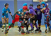 28 May 2016 at Glasgow Caledonian University.<br /> Mean City Roller Derby v Fear and Lothian
