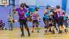 18 June 2018 at the Arc, Glasgow Caledonian University. Mean City Roller Derby v Fear and Lothian